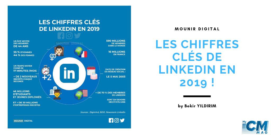 Les chiffres clés de LinkedIn en 2019 !