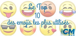 Le top 10 des émoticônes que j'ai utilisé en 2019
